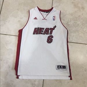 ADIDAS LeBron James Miami heat jersey